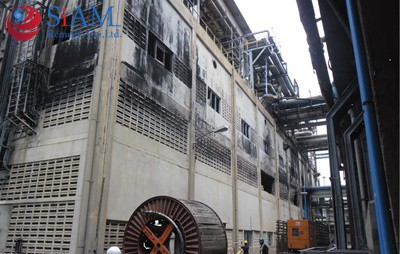 ตรวจสอบและซ่อมแซมโครงสร้างอาคารโรงงานเพลิงไหม้ จ.ขอนแก่น