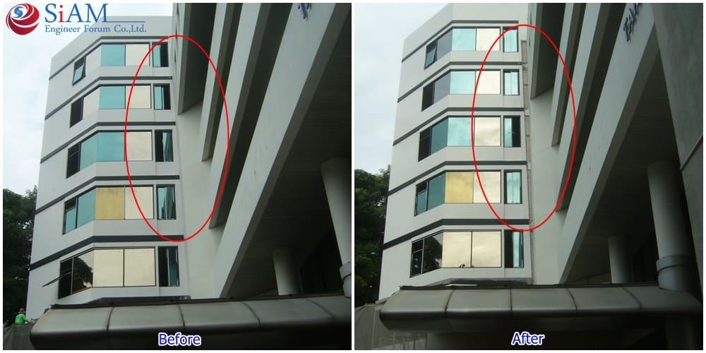 งานเสริมฐานความแข็งแรงและยกปรับระดับอาคาร 6 ชั้น