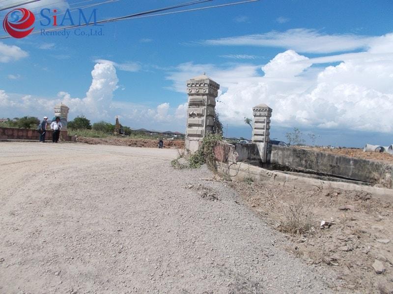 ตรวจสอบวิเคราะห์ สะพานทางเข้าหมู่บ้าน