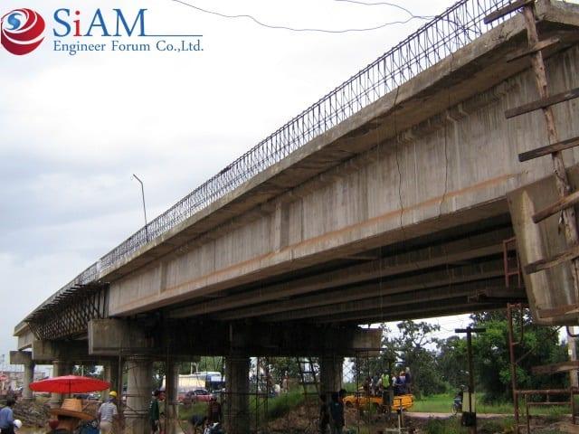 สะพานข้ามทางรถไฟ จังหวัดอุบลราชธานี